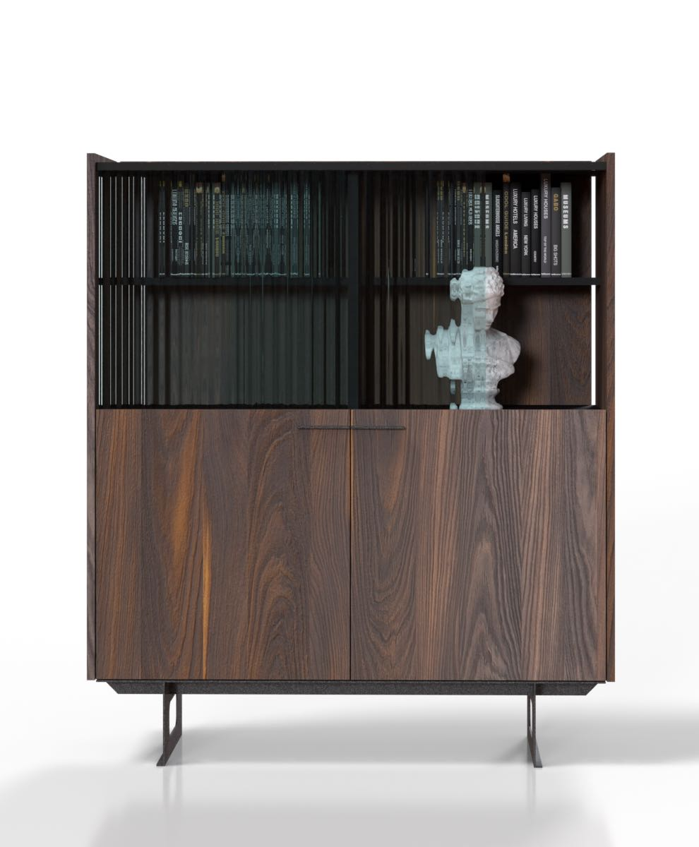 vitro Retro chest of drawers with a showcase