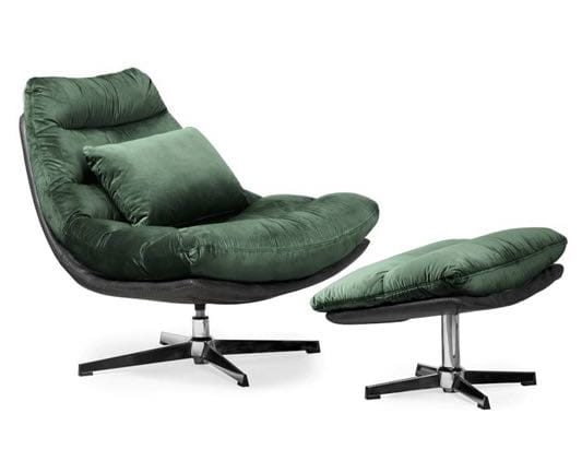 SWIVEL CHAIR WITH FOOTREST MUTTO