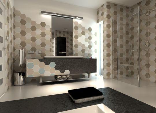 Heksagony w CAD Decor PRO_projekt i wizualizacja