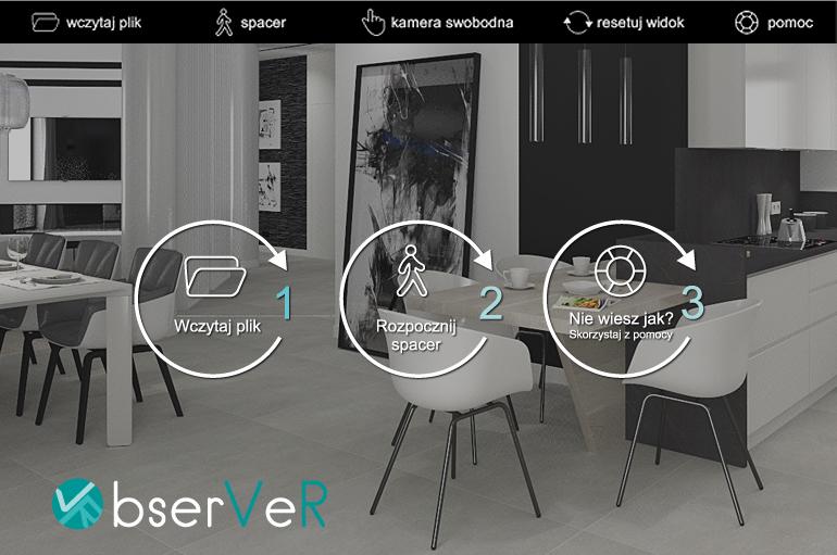 aplikacja obserVeR w CAD Decor PRO