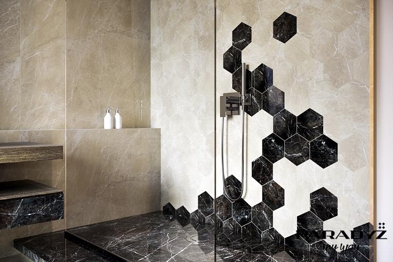 tosi_beige_mat_598x1198_tosi_brown_poler_598x598_tosi brown , beige hexagon 171x198 poler_detal