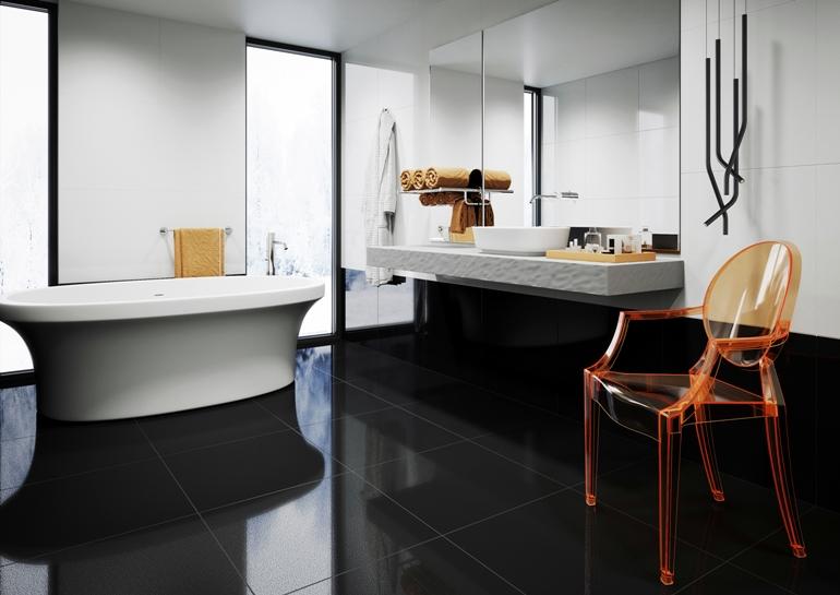 Cambia white&black lappato plan